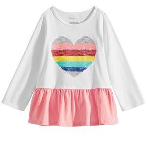 Baby girls rainbow heart tunic 24M